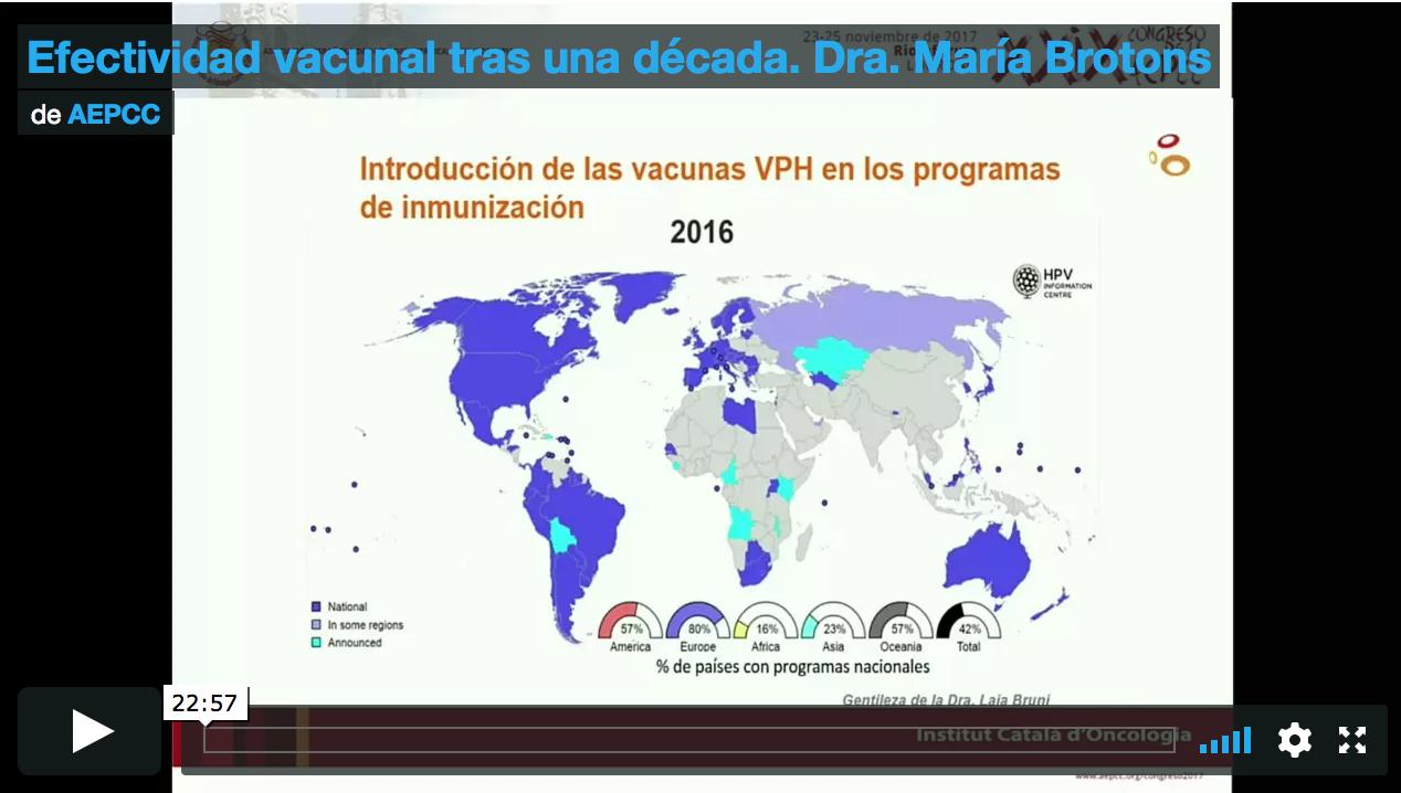 Efectividad vacunal tras una década